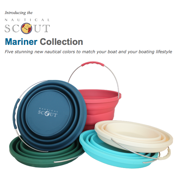 Nautical Scout Collapsible Buckets in 5 new colors